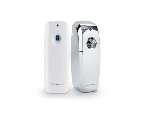 Washroom services: 2 air freshener dispensers side by side