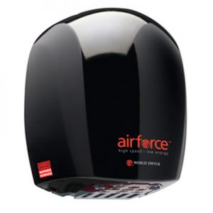 Airforce hand dryer in black