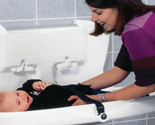 Baby changing table available from Elite Washrooms