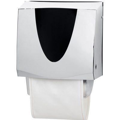 Premier silver and black cotton towel dispenser