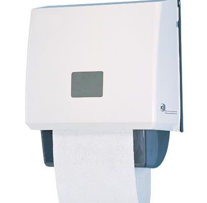 Clean white linen roller towel