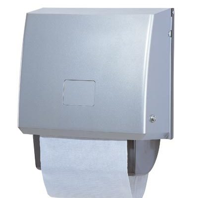 Brushed stainless cotton roller towel