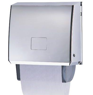 Polished chrome roller towel dispenser