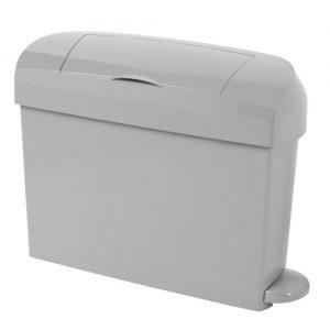 Ladies hygiene bins in a designer grey finish.