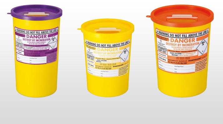 Clinical Waste Disposal: 3 Sharps Bins